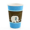 Blue Baby Elephant  - Baby Shower Hot/Cold Cups - 8 ct