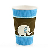 Blue Baby Elephant - Baby Shower Hot/Cold Cups - 8 Pack
