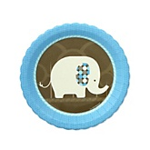 Blue Baby Elephant - Baby Shower Dessert Plates - 8 Pack