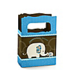 Blue Baby Elephant - Personalized Baby Shower Mini Favor Boxes