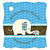 Blue Baby Elephant - Personalized Baby Shower Tags - 20 ct