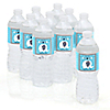 Blue Baby Elephant - Personalized Baby Shower Water Bottle Label Favors