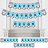 Boy Elephant - Personalized Birthday Party Bunting Banner