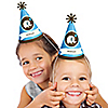 Boy Elephant - Personalized Cone Birthday Party Hats - 8 ct