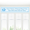 Baby Feet Blue - Personalized Baby Shower Banners