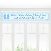 Baby Feet Blue - Personalized Baby Shower Banner