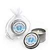 Baby Feet Blue - Personalized Baby Shower Candle Tin Favors