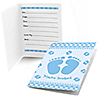 Baby Feet Blue - Fill in Baby Shower Invitations - 8 ct