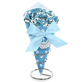 Baby Feet Blue - Baby Shower Candy Bouquets with Frooties