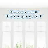Baby Feet Blue - Personalized Baby Shower Garland Banner