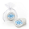 Baby Feet Blue - Personalized Baby Shower Lip Balm Favors