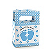 Baby Feet Blue - Personalized Baby Shower Mini Favor Boxes