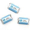 Baby Feet Blue - Personalized Baby Shower Mini Candy Bar Wrapper Favors - 20 ct