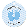 Baby Feet Blue - Personalized Baby Shower Tags - 20 ct