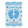 Baby Feet Blue - Personalized Baby Shower Thank You Cards