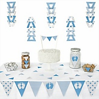baby feet blue baby shower decorations theme. Black Bedroom Furniture Sets. Home Design Ideas