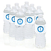 Baby Feet Blue - Personalized Baby Shower Water Bottle Label Favors