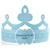 Blue - Grandma-To-Be-Tiara - Personalized Baby Shower Gift