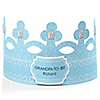 Blue - Grandpa-To-Be-Crown - Personalized Baby Shower Gift
