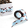 "10 Yards of Modern Blue and Brown Do It Yourself Ribbon  - 10 yds x 1.5"" inches"