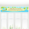 Blue Baby Turtle - Personalized Baby Shower Banners