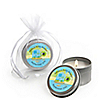 Blue Baby Turtle - Personalized Baby Shower Candle Tin Favors