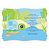 Blue Baby Turtle - Personalized Baby Shower Invitations