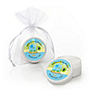 Blue Baby Turtle - Personalized Baby Shower Lip Balm Favors