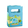 Blue Baby Turtle - Personalized Baby Shower Mini Favor Boxes