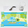Blue Baby Turtle  - Personalized Baby Shower Placemats