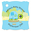 Blue Baby Turtle - Personalized Baby Shower Tags - 20 ct