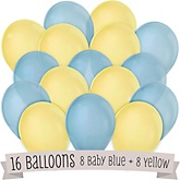 Blue and Yellow - Baby Shower Balloon Kit - 16 Count