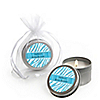 Blue Baby Zebra - Personalized Baby Shower Candle Tin Favors