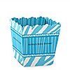 Blue Baby Zebra - Personalized Baby Shower Candy Boxes