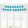Blue Baby Zebra - Personalized Baby Shower Garland Letter Banners