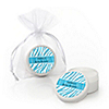 Blue Baby Zebra - Personalized Baby Shower Lip Balm Favors