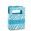 Blue Baby Zebra - Personalized Baby Shower Mini Favor Boxes