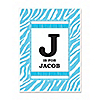 Blue Baby Zebra - Personalized Baby Shower Poster Gift