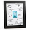 Blue Baby Zebra - Personalized Baby Shower Signature Mat Gift
