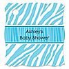 Blue Baby Zebra - Personalized Baby Shower Tags - 20 ct