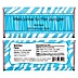 Blue Zebra - Personalized Birthday Party Candy Bar Wrapper Favors