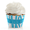 Blue Zebra - Birthday Party Cupcake Wrappers