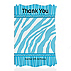 Blue Zebra - Personalized Birthday Party Thank You Cards