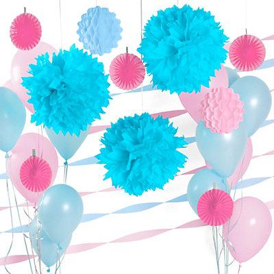 Blue Pink Baby Shower Decoration Kit