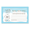 Baby Boy - Personalized Baby Shower Helpful Hint Advice Cards - 18 ct.