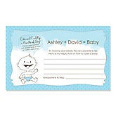 Baby Boy - Baby Shower Helpful Hint Advice Cards Game - 18 Count