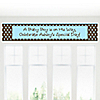 Modern Baby Boy - Personalized Baby Shower Banners