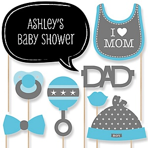 Baby Boy - Baby Shower Photo Booth Props Kit - 20 Props