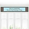 Modern Boy - Personalized Birthday Party Banners