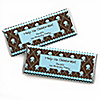 Modern Boy First Birthday Party - Personalized Birthday Party Candy Bar Wrapper Favors